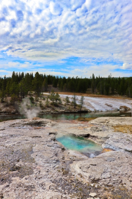 Firehole River in Old Faithful Geyser Basin Yellowstone National Park 2