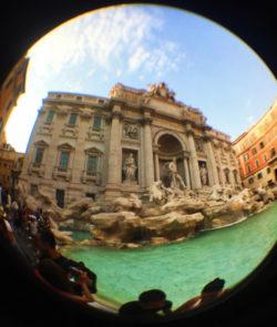 Fisheye of Trevi Fountain Rome Italy 1