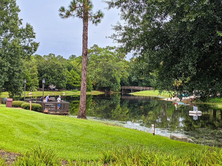 Fishing Dock at Meadows Recreation Area Fort Wilderness Resort and Campground Disney World 1