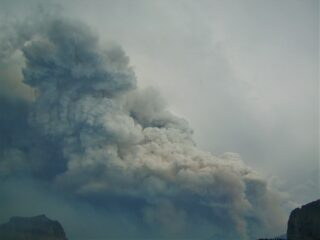 Forest Fire at Logan Pass Glacier National Park