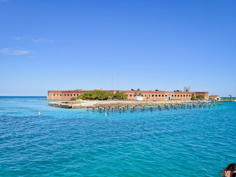Fort Jefferson in Distance Dry Tortugas National Park Key West Florida Keys 2020 5