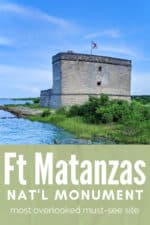 Fort Matanzas National Monument is an ideal day trip from St Augustine. See how to visit and what to day at this overlooked but MUST-SEE sight. #Florida #StAugustine #nationalpark