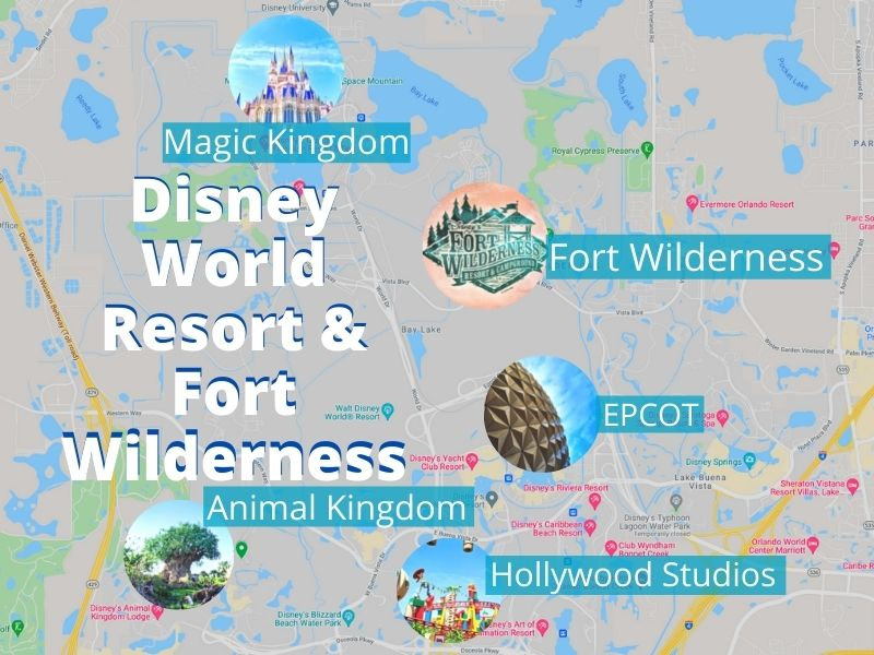 Map of Disney World with Fort Wilderness