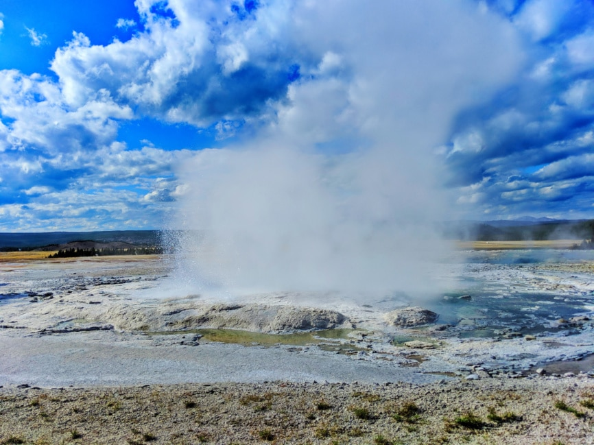 Fountain Geyser at Fountain Paint Pots Yellowstone NP 1