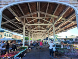 Fresh produce stands at Rochester Public Market 1