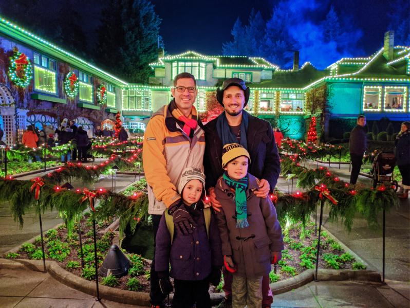 Full Taylor Family Christmas Lights Italianate Garden Butchart Gardens Christmas Victoria BC 5