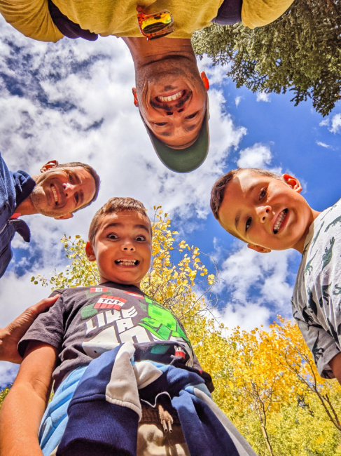 Full Taylor Family Hiking at Spruce Creek Trail White River National Forest Breckenridge Colorado 7
