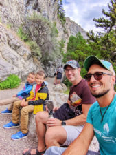 Full Taylor Family Hiking to Lewis and Clark Caverns State Park Montana 6