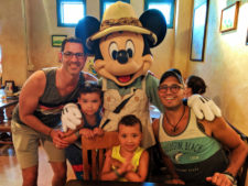Full Taylor Family Mickey character dining at Tusker House Animal Kingdom Disney World Orlando Florida 2
