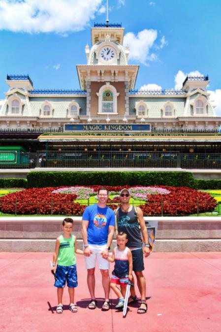 Full Taylor Family PhotoPass Main Street Station at Magic Kingdom Disney World Orlando Florida 3
