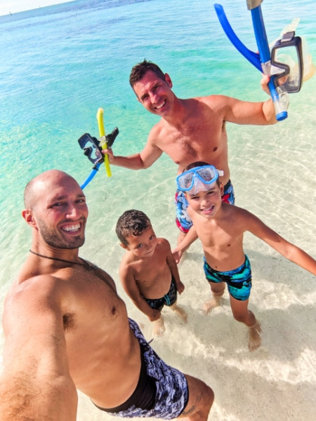 Full Taylor Family at Beach in Dry Tortugas National Park Key West Florida Keys 2020 6