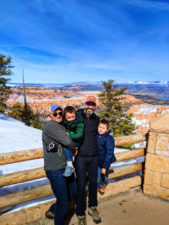 Full Taylor Family at Bryce Point Bryce Canyon National Park in the Snow Utah 4