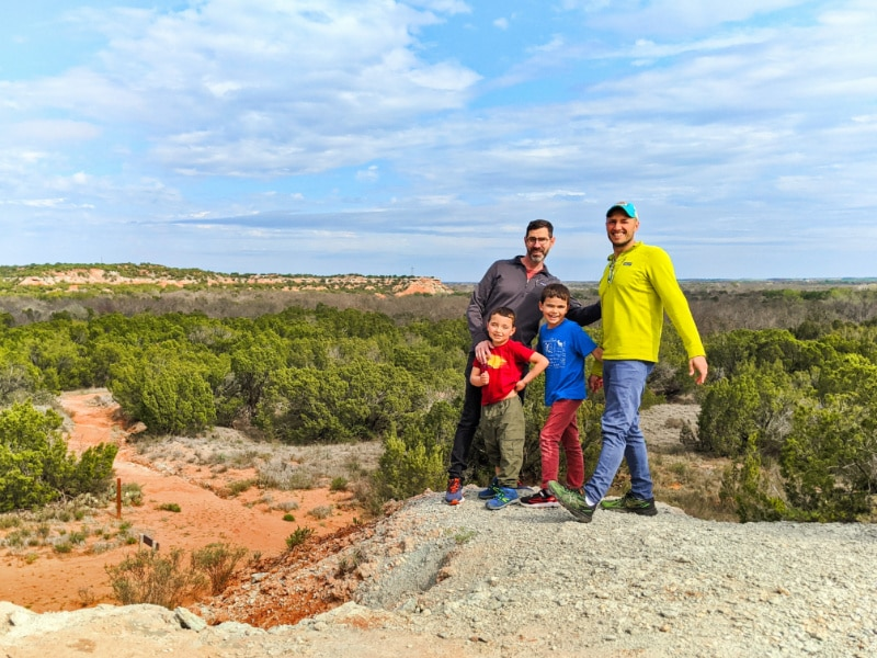 Full Taylor Family at Copper Breaks State Park Quanah Texas 3