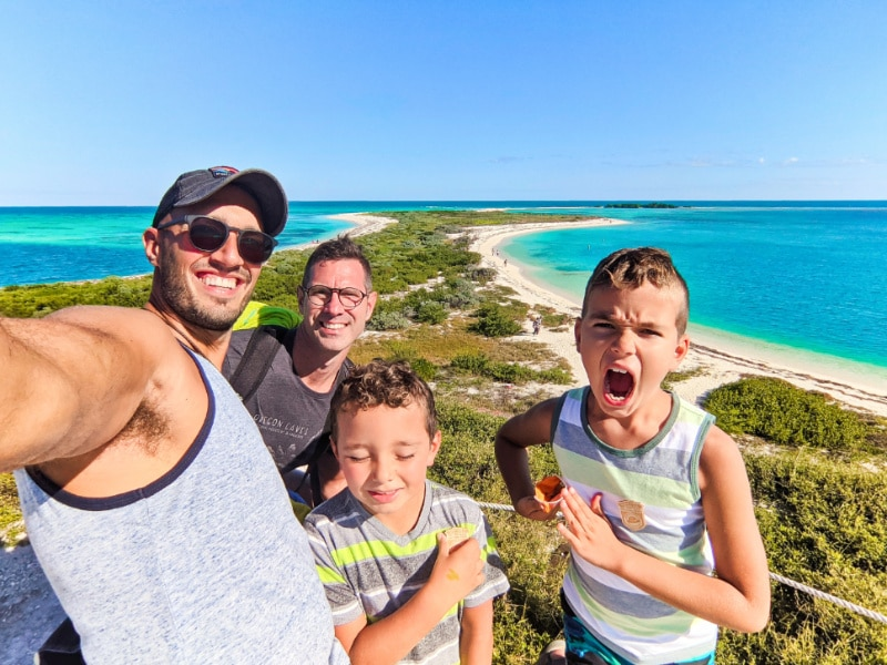 Full Taylor Family at Fort Jefferson Dry Tortugas National Park Key West Florida Keys 2020 2