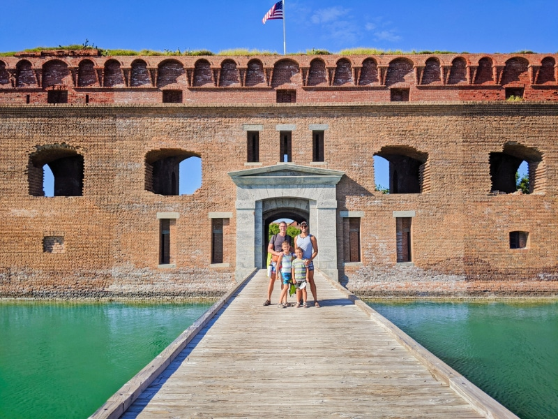 Full Taylor Family at Fort Jefferson Dry Tortugas National Park Key West Florida Keys 2020 3