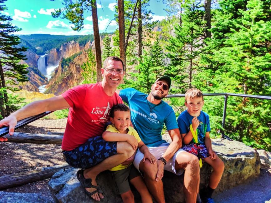 Full Taylor Family at Grand Canyon of Yellowstone 2019 2