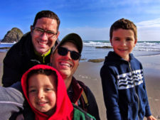 Full Taylor Family at Harris Beach State Park Brookings Oregon 10