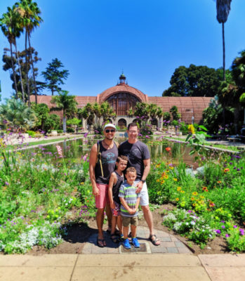 Full Taylor Family at Lily Pond Balboa Park San Diego California 2