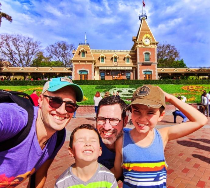 Full Taylor Family at Main Street Station Disneyland Anaheim California 1