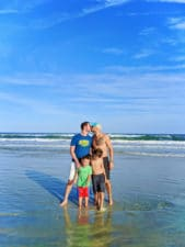 Full Taylor Family at Ocean Hammock Park Saint Augustine Beach Florida 12