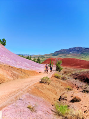 Full Taylor Family at Painted Cove trail Painted Hills John Day Fossil Beds NM Oregon 4b