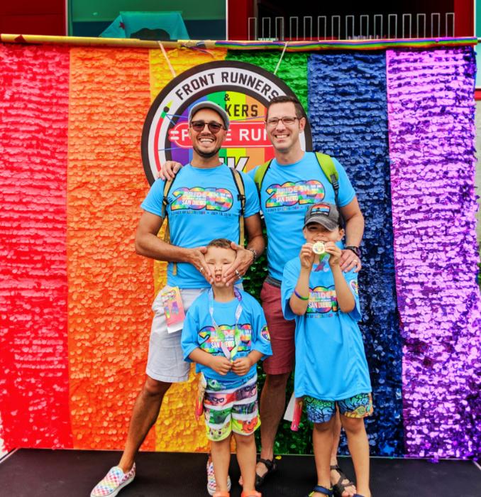 Full Taylor Family at Pride 5k San Diego California 2