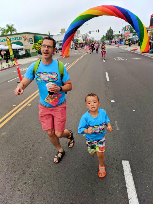 Full Taylor Family at Pride 5k San Diego California 6