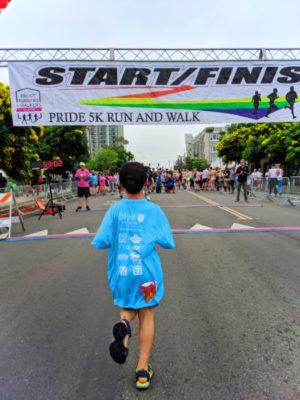Full Taylor Family at Pride 5k San Diego California 7