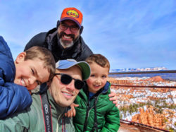 Full Taylor Family at Sunrise Point Bryce Canyon National Park in the Snow Utah 2