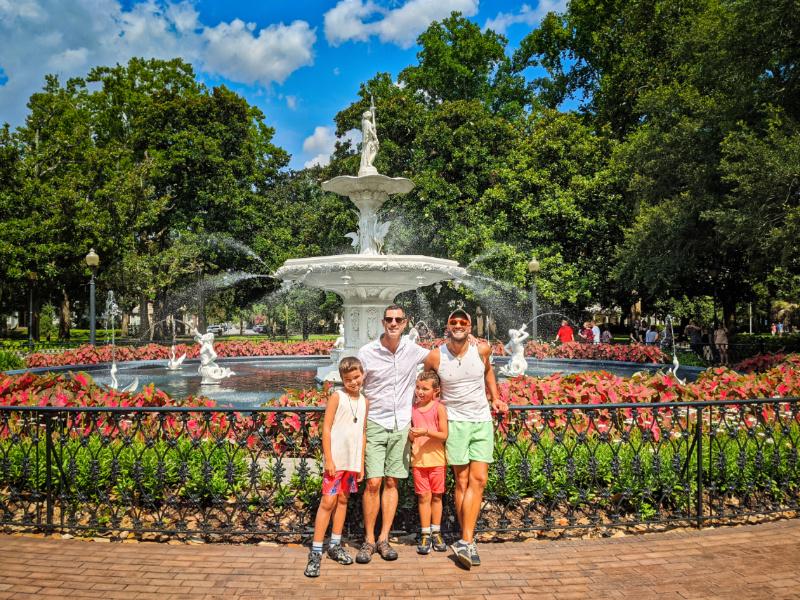 Full Taylor Family at White Fountain at Forsyth Park Historic District Savannah Georgia 1