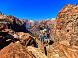 Full Taylor Family hiking Canyon Overlook Trail Zion National Park Utah 6