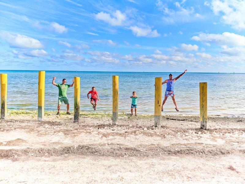 Full Taylor Family on Annes Beach Islamorada Florida Keys 2020 1