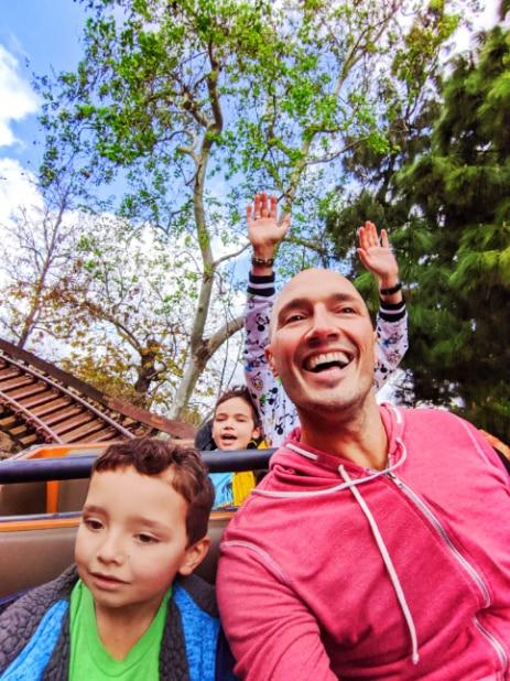 Full Taylor Family on Big Thunder Mountain Railroad Disneyland 2020 2
