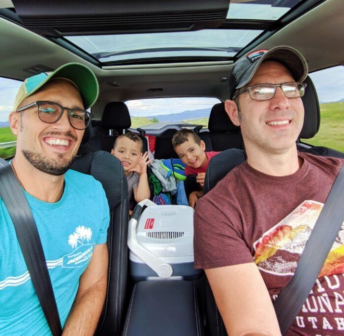 Full Taylor Family on road trip through Montana 1