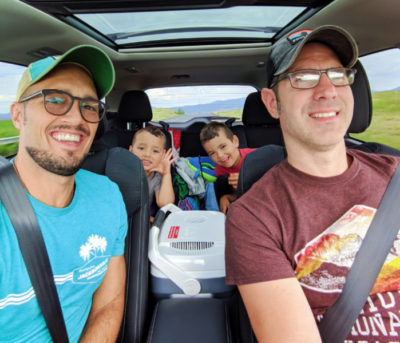 Full Taylor Family on road trip through Montana 1
