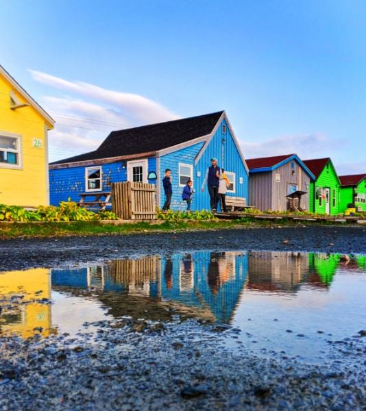 Full Taylor Family reflections at Fishermans Cove Halifax Nove Scotia 5