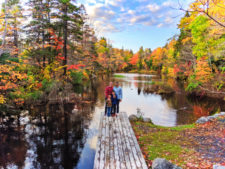 Full Taylor Family with Fall Colours on Shubie Park Canals Pond Dartmouth Halifax Nova Scotia 2