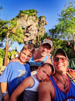 Full Taylor Family with Floating mountains of Pandora Disneys Animal Kingdom Disney World Orlando Florida 2