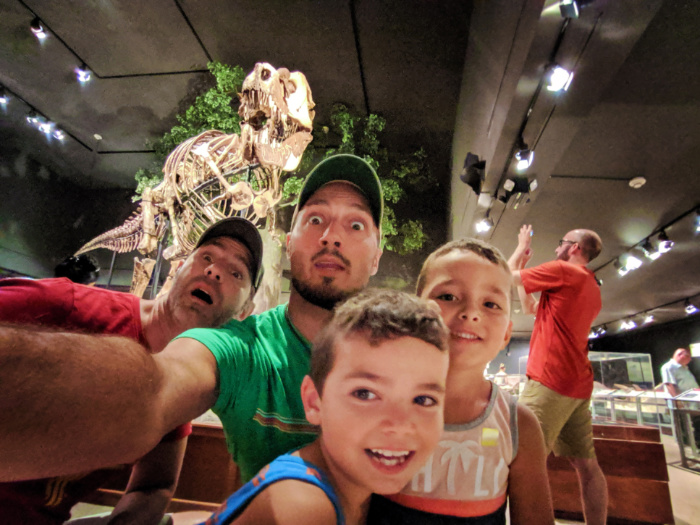 Full Taylor Family with TRex fossils at Museum of the Rockies in Bozeman Montana 4