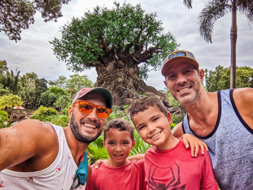Full Taylor Family with Tree of Life Disneys Animal Kingdom Disney World Orlando Florida 3