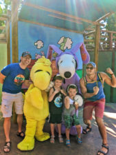 Full Taylor family at Camp Snoopy at Knotts Berry Farm Buena Park California 2