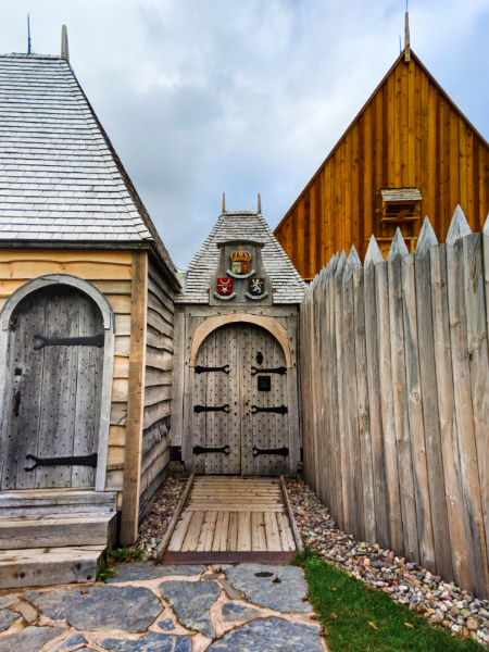 Gates to Port Royal National Historic Site Annapolis Royal Nova Scotia 1