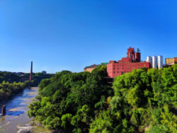 Genesee River from High Falls downtown Rochester New York 1