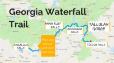 There are many beautiful Georgia waterfalls, and we've picked our favorites. The Georgia Waterfall Trail is an easy way to add nature to an Atlanta vacation or north Georgia getaway.