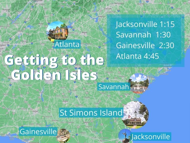 Getting to St Simons Island Map