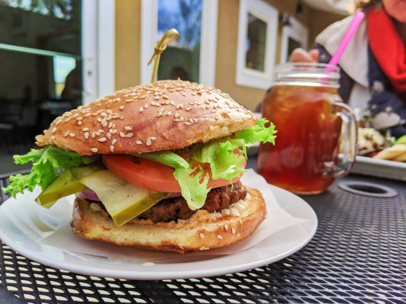 Goat Cheese Burger at LA Bakery Carson City Nevada 1
