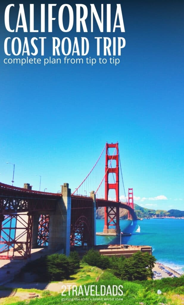 The Golden Gate Bridge is one of the best stops along a California Coast road trip. 1 Day Plan for visiting San Francisco on your drive down the coast.
