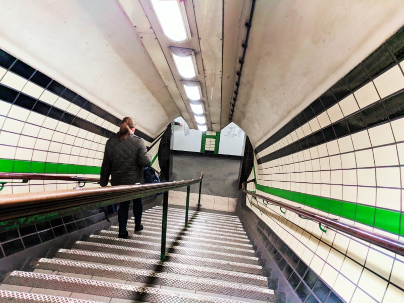 Goodgy St Tube Station London Underground Spiral staircase Soho London UK 2