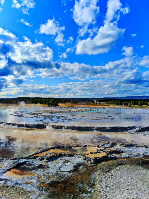 Great Fountain Geyser Firehole Lake Drive Yellowstone NP 1
