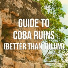 Visiting the Coba Ruins Archaeological Site is a great Cancun day trip. Info for how to get there, guided tours, and what to expect at Coba.
